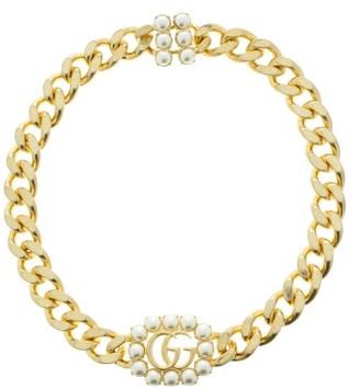 Gucci GG Faux-pearl Choker Necklace - Pearl