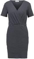 Modstrom SOLOMON Jersey dress navy/offwhite
