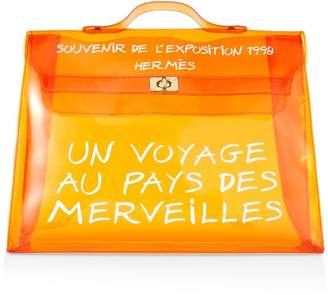Hermes Limited Edition Orange Vinyl L'Exposition 1997 Kelly 40cm