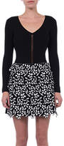 French Connection Fulaga Floral Lace Mini Skirt, Black/Summer White