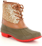 Gianni Bini Stormie Glitter Duck Cold Weather Block Heel Boots