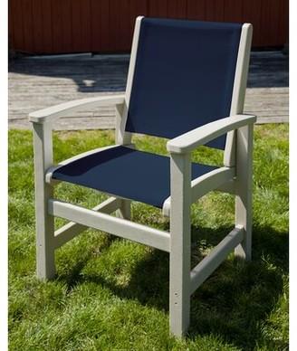 Polywood Coastal Patio Dining Chair Color: Sand
