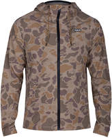 Hurley Men's Protect Stretch Camouflage Water-Repellent Windbreaker