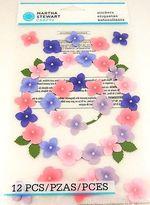 Martha Stewart Hydrangea Glossary Dimensional Stickers 12 Pieces