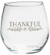 Kate Aspen Set of 4) Thankful 15oz. Stemless Wine Glass