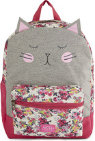 Joules Cat and floral print backpack