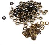 Walfront Antique Brass Eyelet Grommets, Leather Craft DIY Eyelet Grommets Kit with Washers for Leather Canvas Clothes Belts Shoes