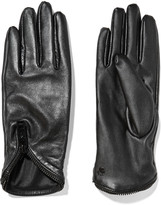 Karl Lagerfeld Zip-trimmed leather gloves