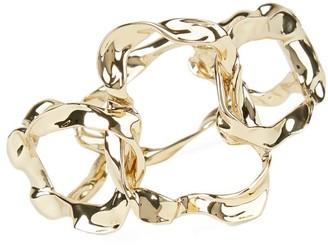 Alexis Bittar Crumpled 10K Goldplated Link Hinge Bracelet
