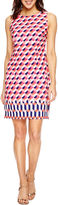 Studio 1 Sleeveless Geometric Sheath Dress-Petites