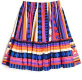 MSGM Geometric Print Flare Skirt