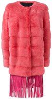 Yves Salomon fringed mink fur coat