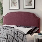 Three Posts Coleshill Upholstered Panel Headboard Size: Full / Queen, Upholstery: Purple