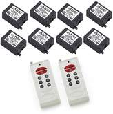 Owfeel(TM) DC 12V One Transmitter with 8X 1 Channel Relays Learning Smart Wireless Remote Control Switch White Transmitter