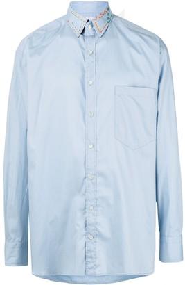 Kolor Long Sleeve Stitch Detail Shirt