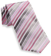 Synrgy Ombre Triple Stripe Silk Tie Casual Male XL Big & Tall