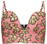 Colville - Floral Satin-cloque Bustier - Womens - Pink Multi