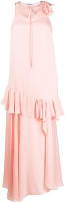Parlor Layered-Effect Ruffled Dress