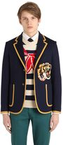 Gucci Tiger Patch Cotton Jersey Jacket