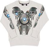 Molo Kids Transformer-Print Cotton French Terry Sweatshirt-GREY