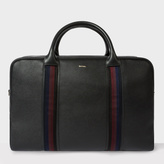 Paul Smith Men's Black Leather 'City Webbing' Holdall