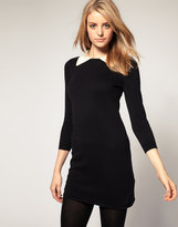 ASOS Knitted Dress With Contrast Collar