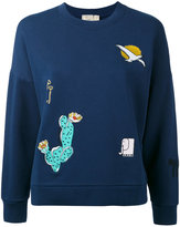 MAISON KITSUNÉ embroidered motif sweatshirt - women - Cotton - S