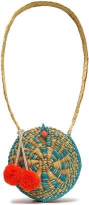 Sophie Anderson Pompom-embellished Straw Shouldr Bag