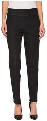 Krazy Larry Pull-On Denim Ankle Pants (Black Denim) Women's Jeans