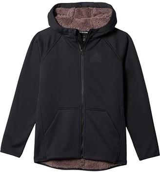 Burton Crown Weatherproof Full Zip Sherpa Fleece (Little Kids/Big Kids) (True Black) Kid's Clothing
