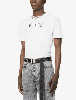 Off-White Peace Worldwide logo-print cotton-jersey T-shirt