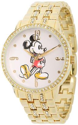 DISNEY PRINCESS Disney Mickey Mouse Womens Cubic Zirconia Bracelet Watch