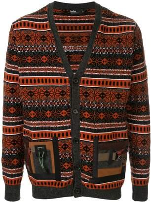 Kolor patterned loose-fit cardigan