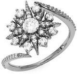 Nadri Gunmetal Cubic Zirconia Snowflake Ring