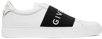 Givenchy White and Black Elastic Urban Street Sneakers