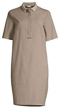 Peserico Women's Short Sleeve Stretch Cotton Dress