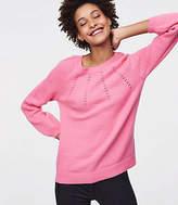 LOFT Pointelle Blouson Sweater