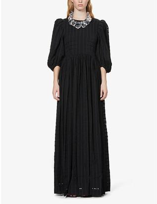 Stine Goya Isa gingham woven midi dress