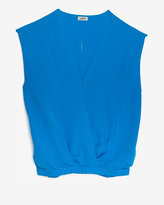 L'Agence Exclusive Open Back Wrap Silk Blouse