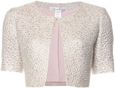Oscar de la Renta glittery cropped jacket - women - Cotton/Polyester - 4