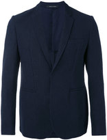 Emporio Armani multi-pockets blazer - men - Cotton/Polyamide/Polyester/Viscose - 48