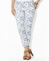 Lauren Ralph Lauren Plus Floral Straight Ankle Jeans