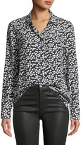 Thumbnail for your product : Equipment Hearts Silk Printed Button-Front Shirt