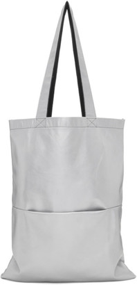 Rick Owens Silver Leather Tote
