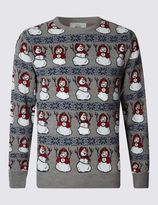 Marks and Spencer Snowman Novelty Light Up Jumper