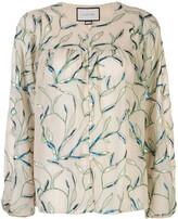 Alexis Valez foliage embroidered blouse