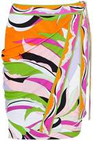 Emilio Pucci Wrap-Effect Printed Stretch-Jersey Skirt