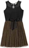 Jessica Simpson Metallic Mesh A-Line Dress, Big Girls (7-16)