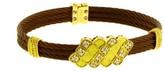 Charriol Philippe 18K Yellow Gold & Bronze Steel Diamond Bangle