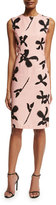 Sachin + Babi Sleeveless Floral Faille Sheath Dress, Light Pink